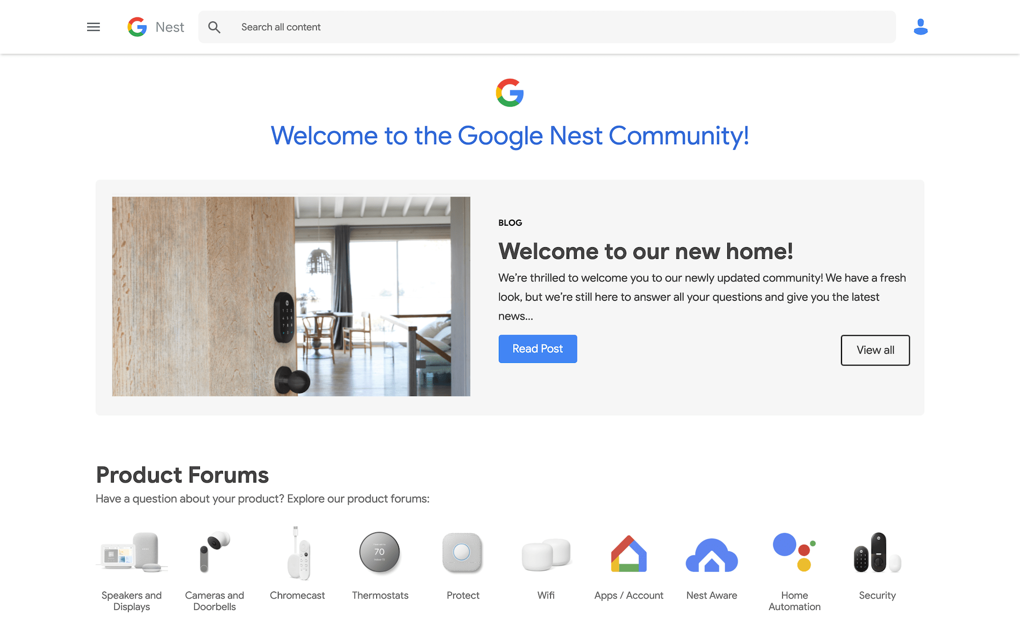 New Google Nest Community
