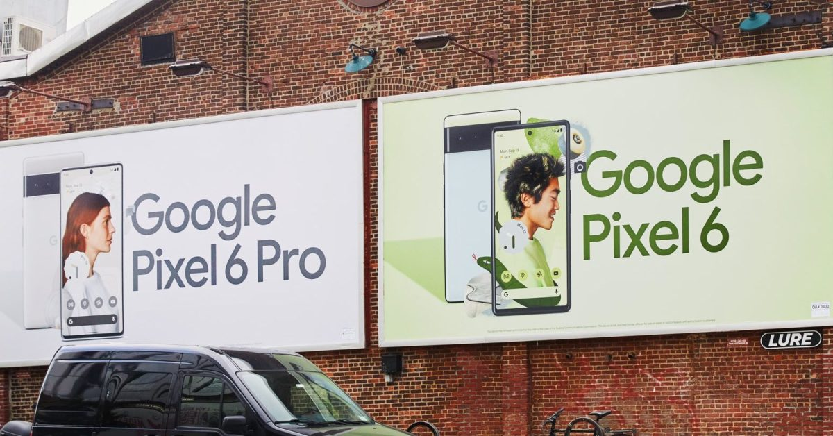 Latest Google billboards show how the Pixel 6 and Pixel 6 Pro designs, screens differ thumbnail