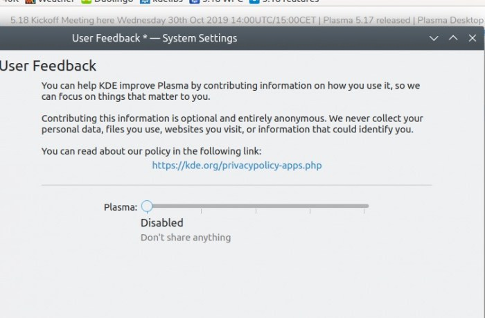 KDE's New User Feedback Tool Gets First Stable Release, Will Ship in Plasma 5.18 LTS