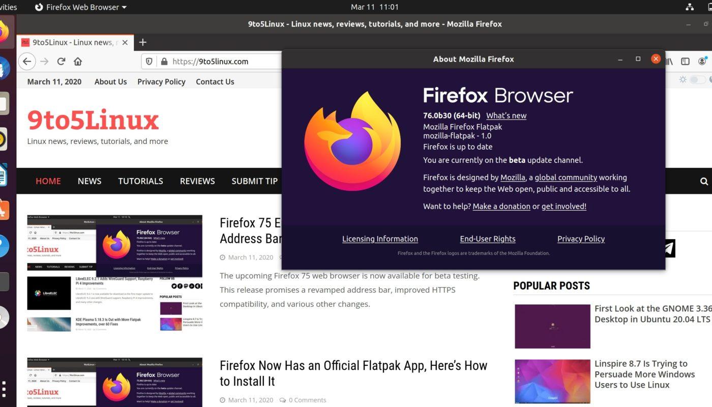 Firefox Flatpak