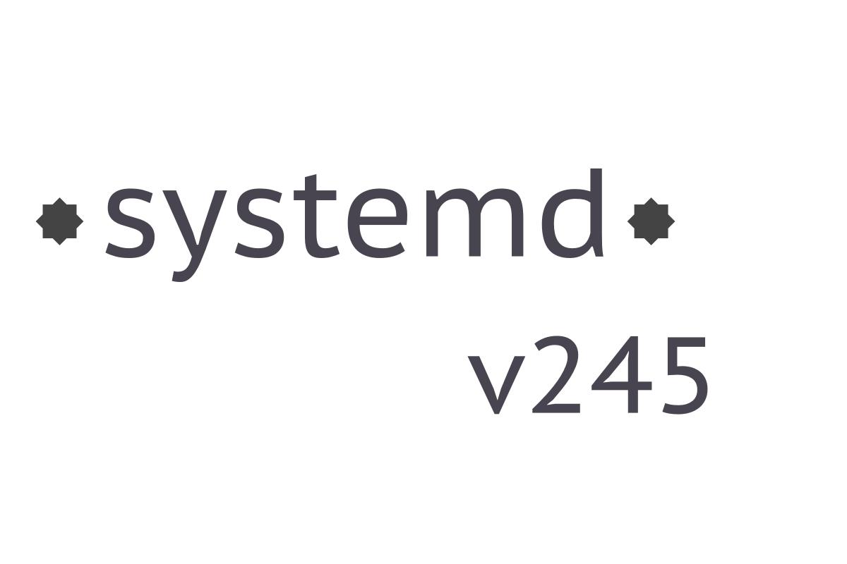 systemd 245