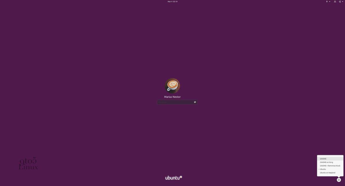 Vanilla GNOME session on Ubuntu