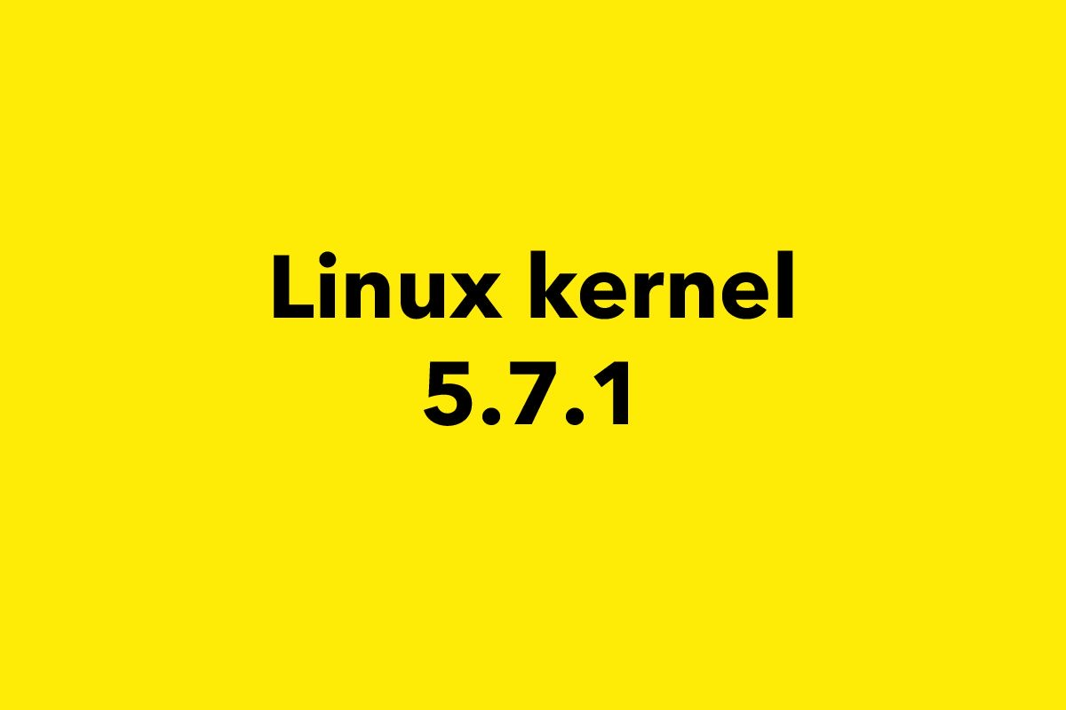Linux kernel 5.7 first point release