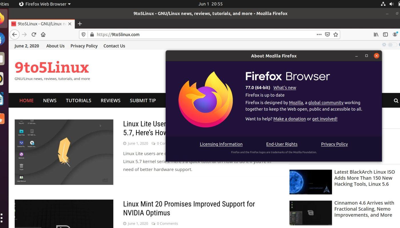 Mozilla Firefox 77