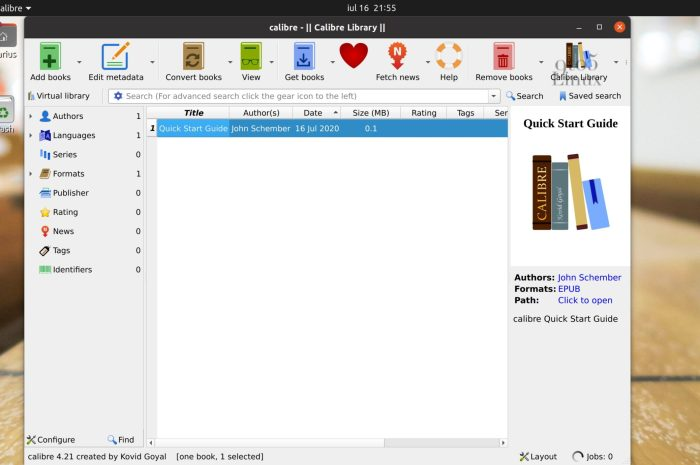 Calibre 4.21 E-book Manager Released with Support for Kobo Nia, Improvements