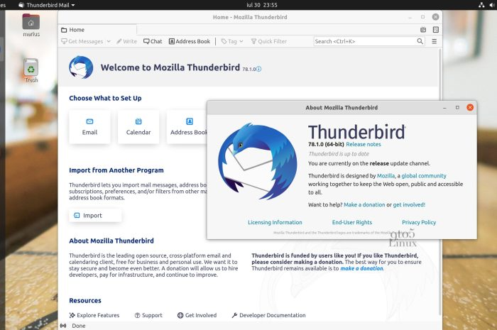 Mozilla Thunderbird 78.1 Released with Full OpenPGP Support, Search in Preferences Tab