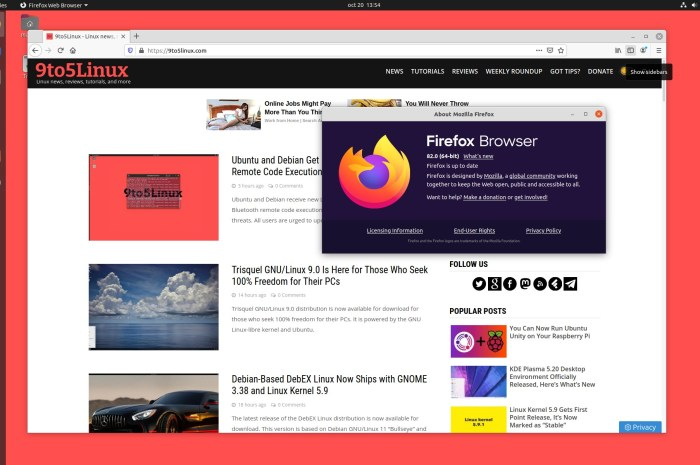Firefox 82 Released with Picture-In-Picture Improvements, 17% Faster Session Restore
