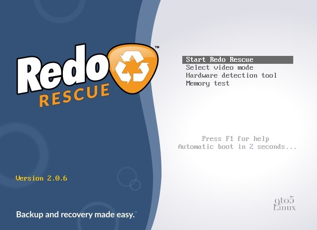 Redo Rescue Linux Distro Adds Support for Mounting exFAT and F2FS Filesystems