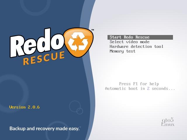 Redo Rescue Linux
