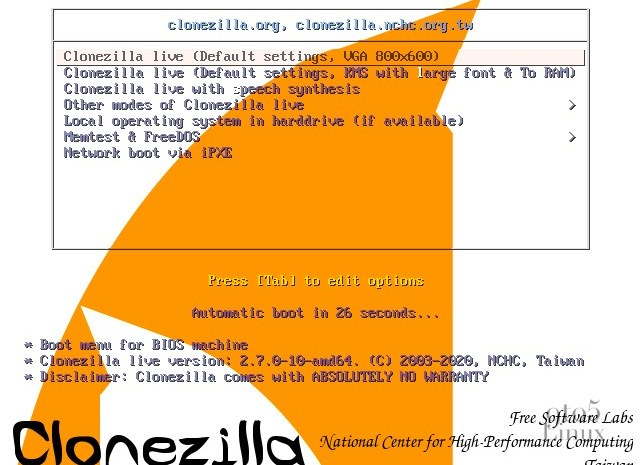Clonezilla Live Is Now Powered by Linux Kernel 5.9, New Release Brings Major Changes