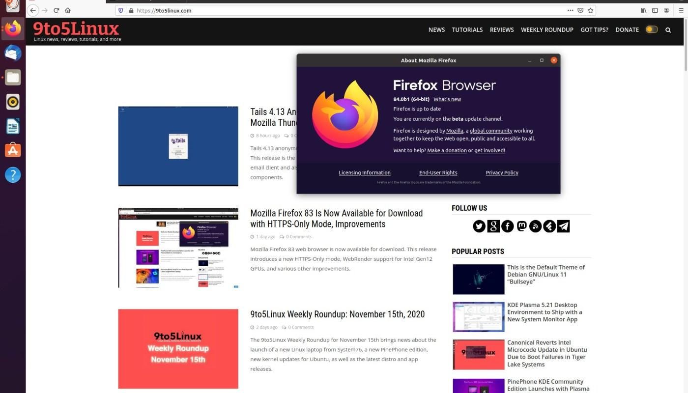 Firefox 84 WebRender