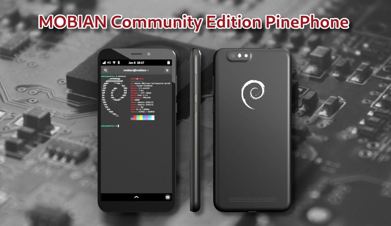PinePhone Mobian Edition