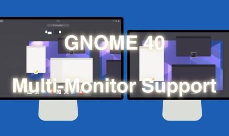 GNOME 40 Multi-Monitor