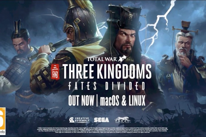 Total War: THREE KINGDOMS – Fates Divided DLC Is Now Available for Linux