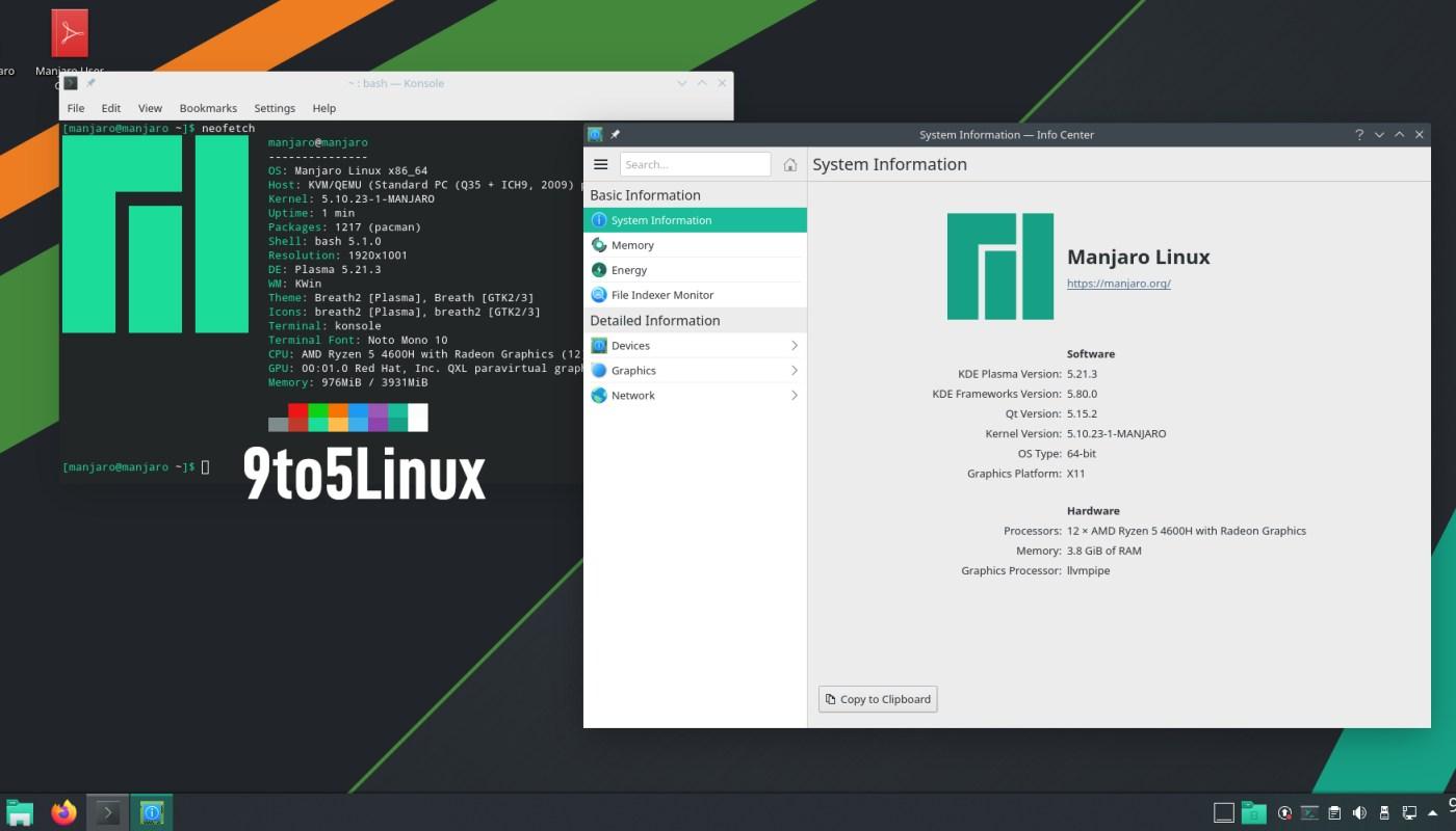 Manjaro Linux 21.0