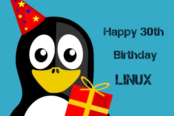 Happy 30th Birthday, Linux!