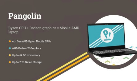 System76 Pangolin Linux Laptop