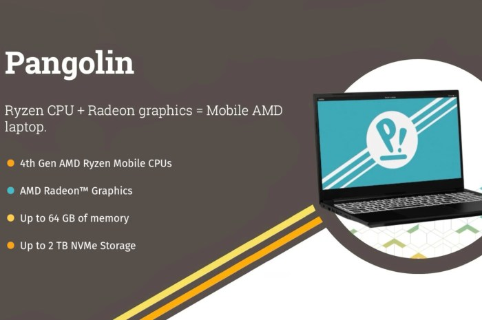 """System76's AMD-Only """"Pangolin"""" Linux Laptop Gets 4th Gen AMD Ryzen Mobile CPUs"""