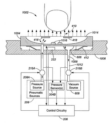Apple dreaming up a tiny keyboard with pneumatic system