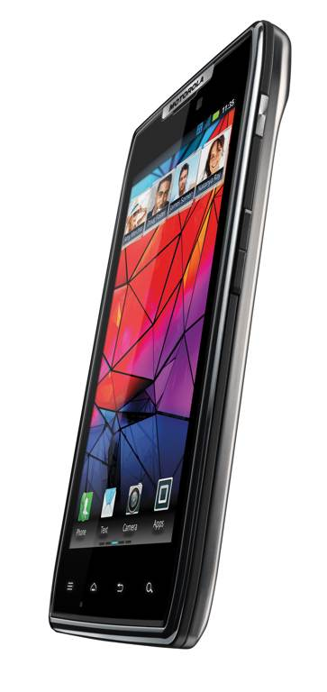 Motorola Droid RAZR (Front, right angled 001)