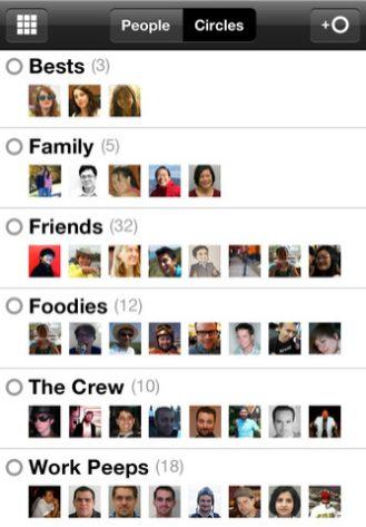 Google Plus for iOS (iPhone screenshot 003)