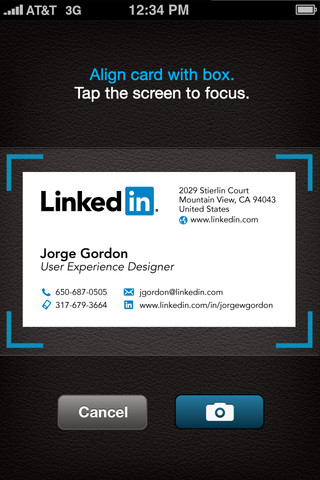 LinkedIn CardMuch for iOS (iPhone screenshot 002)