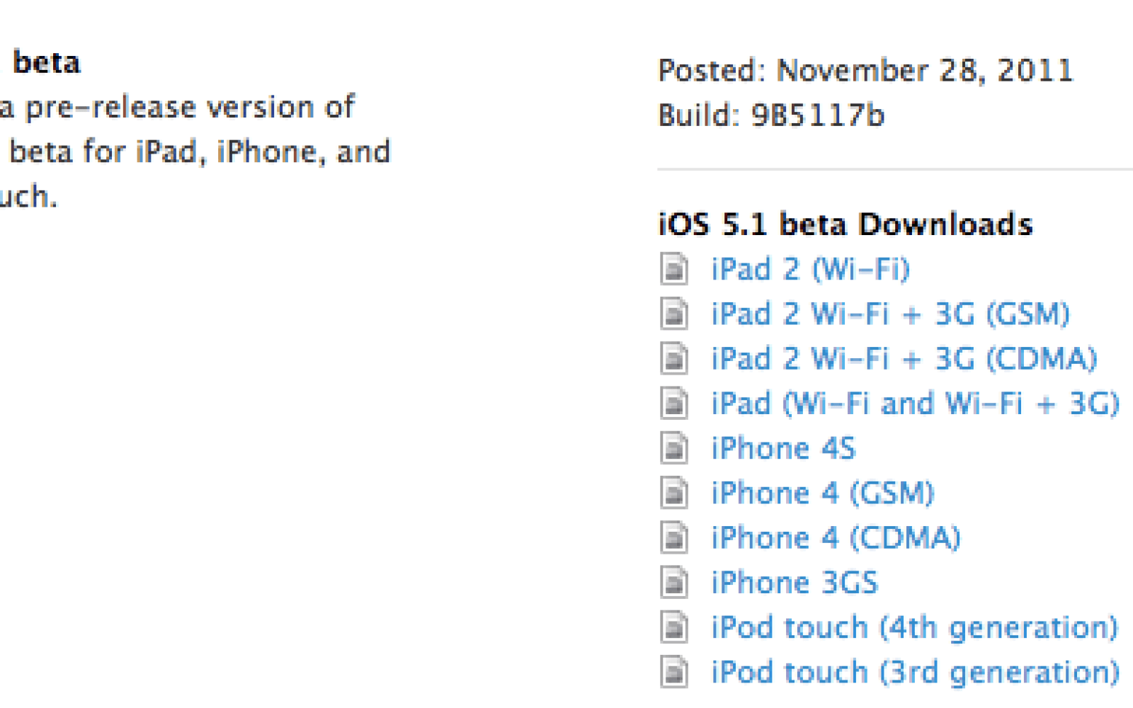 Apple seeds first iOS 5 1 beta, Xcode 4 3 beta (release notes