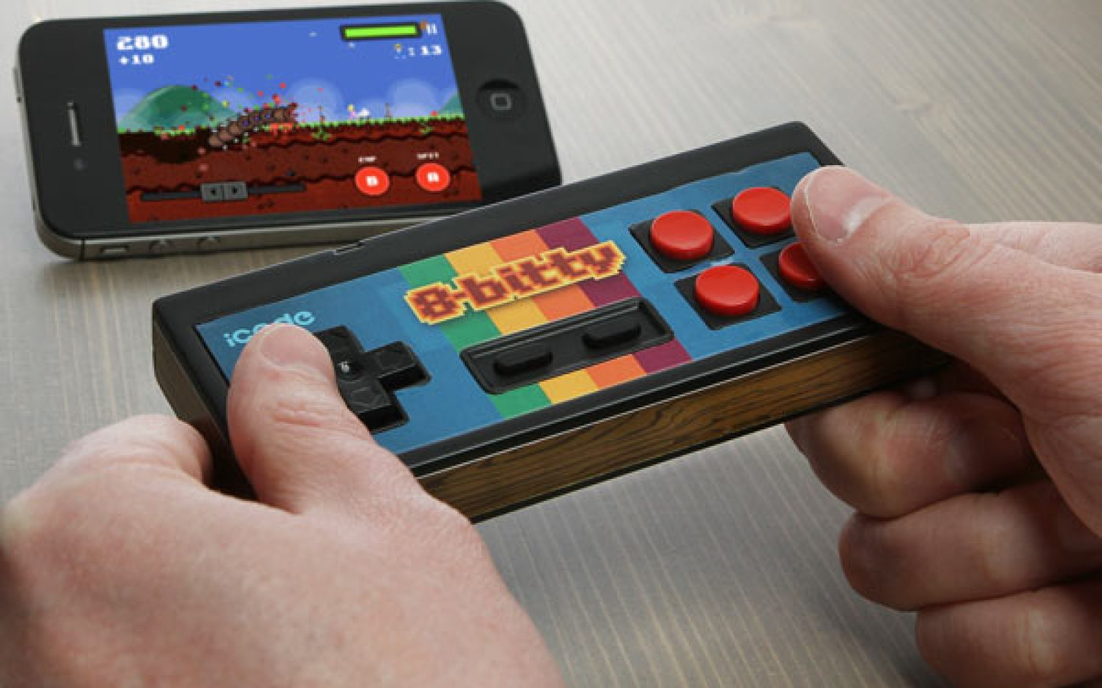 8-Bitty' Nintendo-style iCade controller for iOS devices, coming