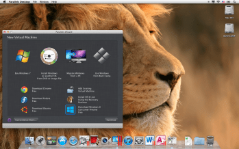 Parallels Desktop 7 for Mac - Parallels New VM Wizard with Windows 8 Consumer Preview