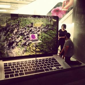 Retina MacBook window display