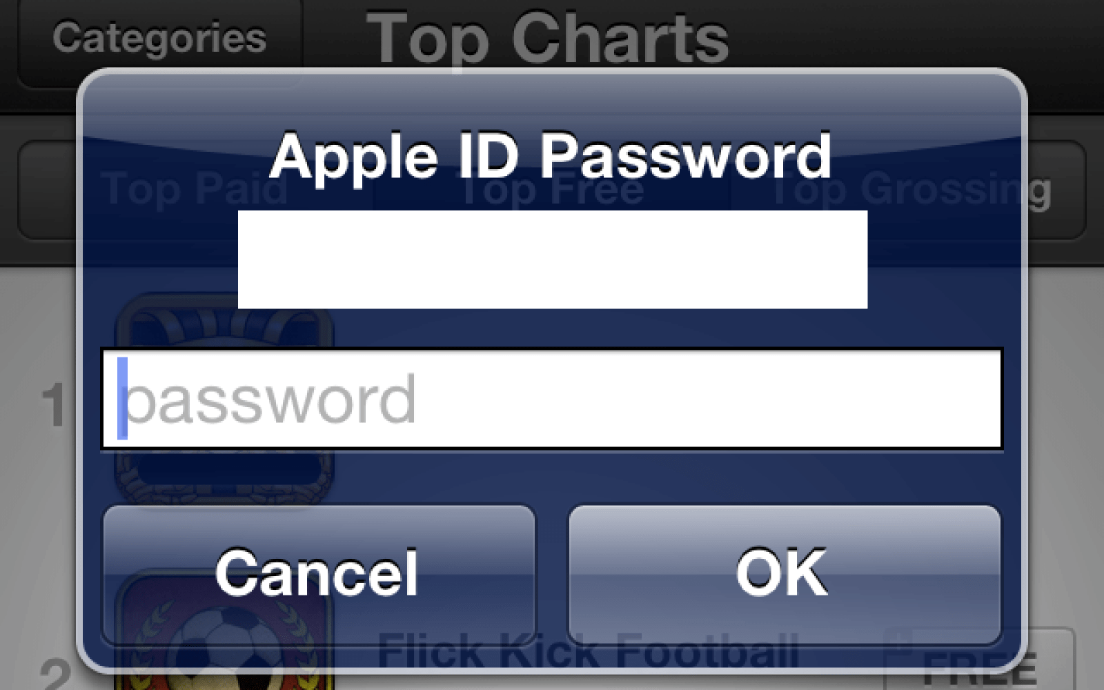 Free app download password requirement in iOS 6 appears to