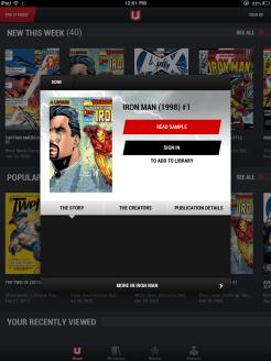 Iron Man on iPad 3