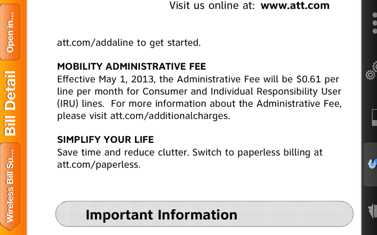 AT&T explains its new 61 cent/month administrative fee policy
