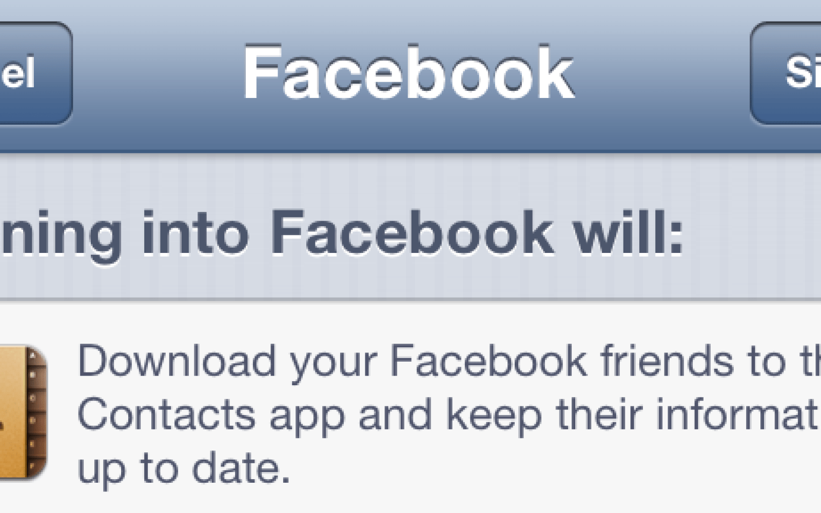 Facebook aims to declutter the iOS Contacts app by no longer syncing friends without useful contact info