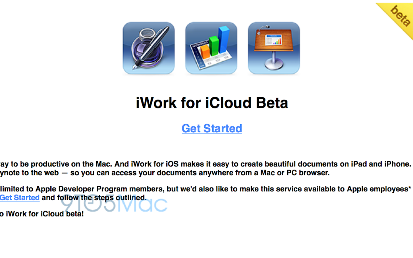 Apple expands iWork for iCloud beta testing to its employees