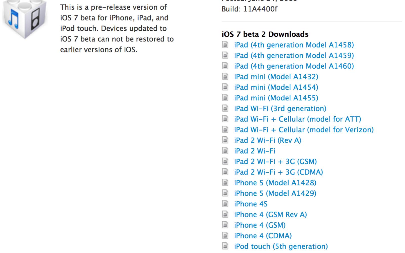 iOS 7 beta 2 includes iPad and iPad mini support [Full screenshot tour]