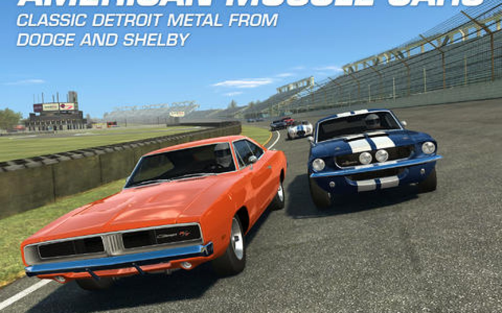 Real Racing 3 iOS app adds classic Dodge and Shelby muscle cars, new