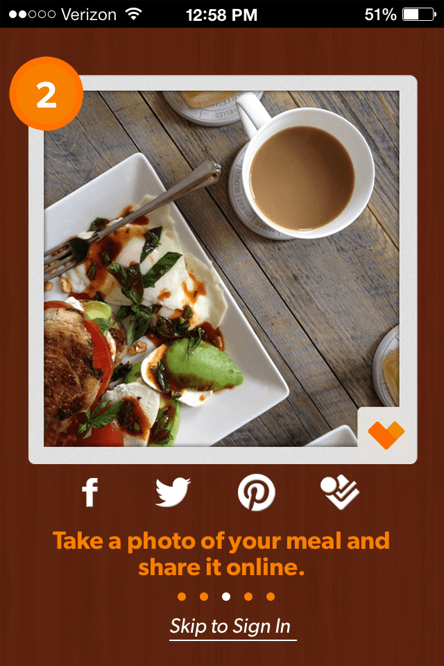 Feedie: an app that shares food pictorially and literally