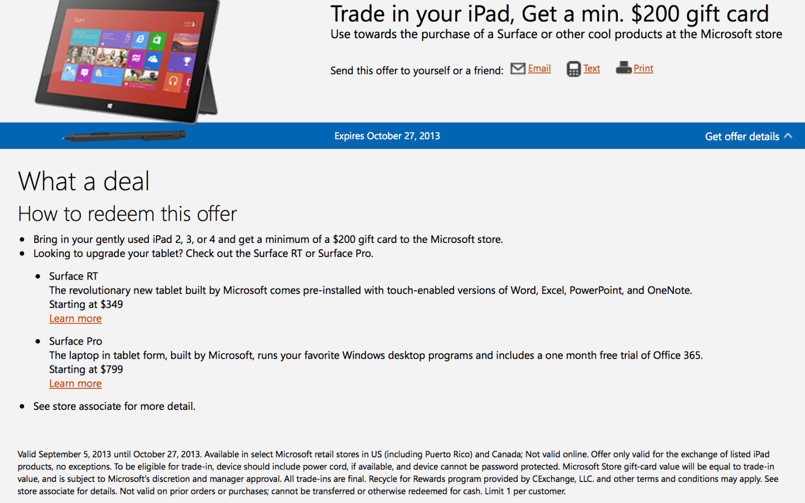 Microsoft offering up $200 discounts on Surface with iPad trade-in
