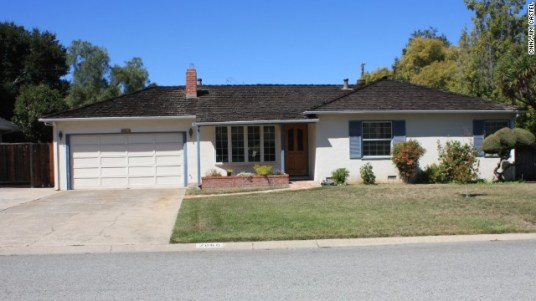 The childhood home of Steve Jobs.