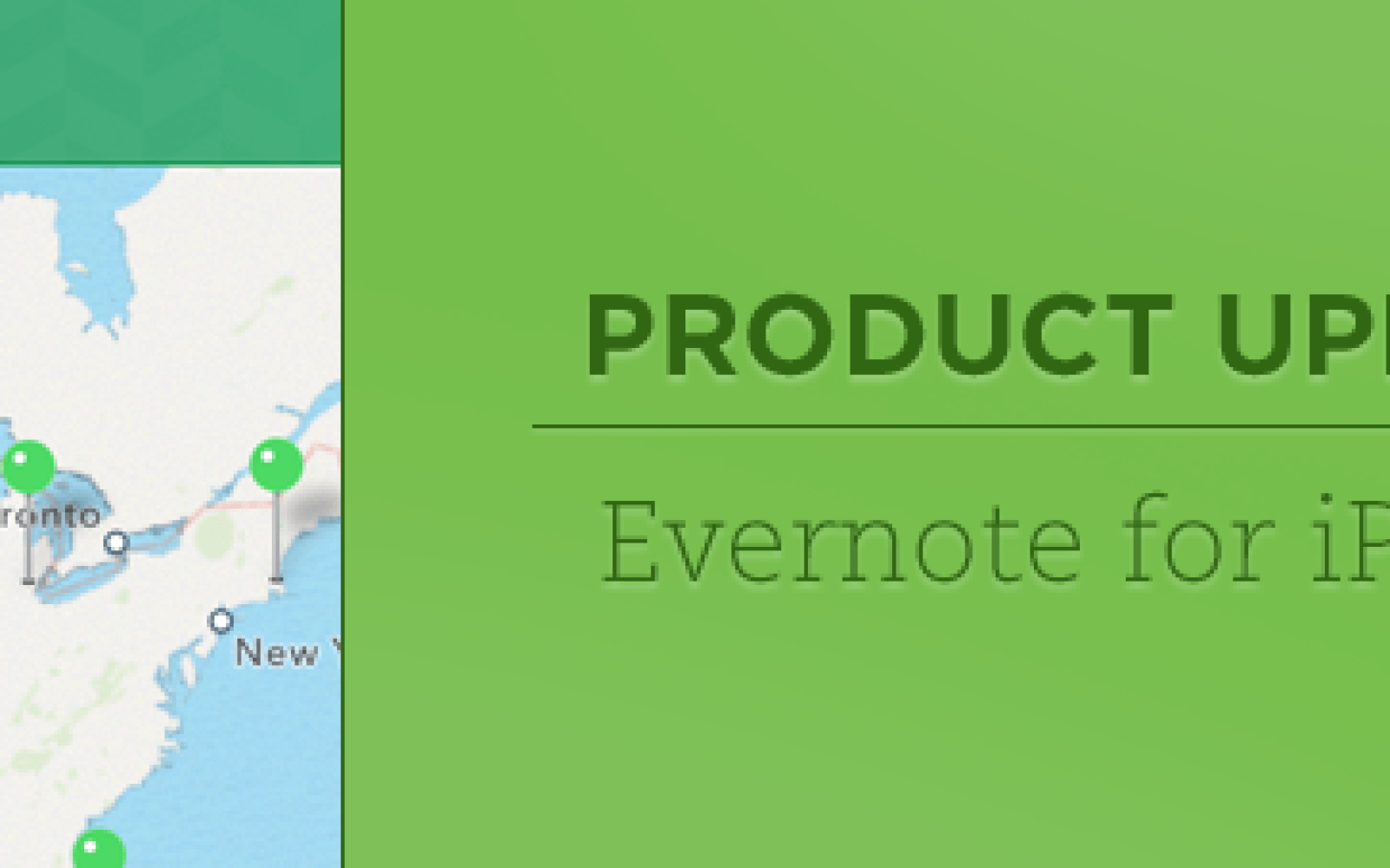 Evernote app updated with customized homescreen layout, mapping & improved saved searches