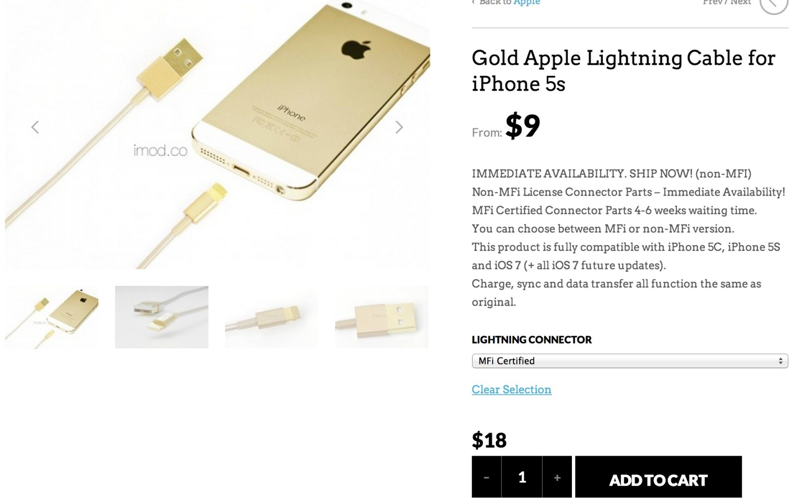 Why you should probably spend a little extra on these gold Lightning cables