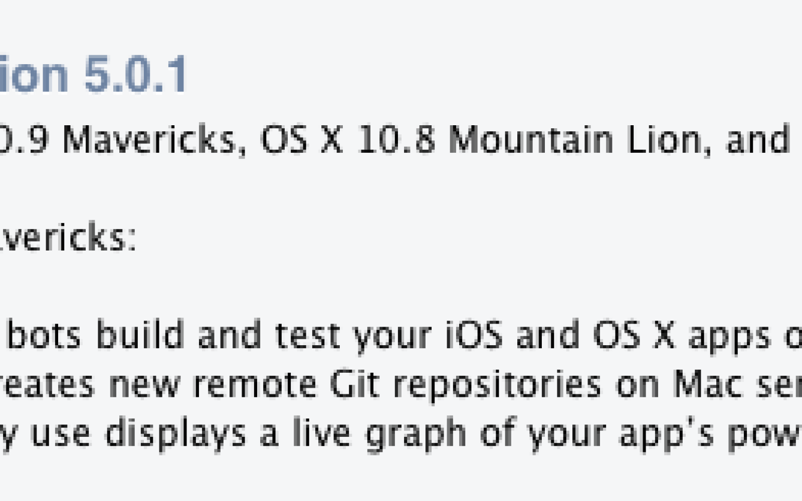 Xcode 5.0.1 released with Mavericks SDK and new build / debug features [update: new versions of OS X Server and Remote Desktop]