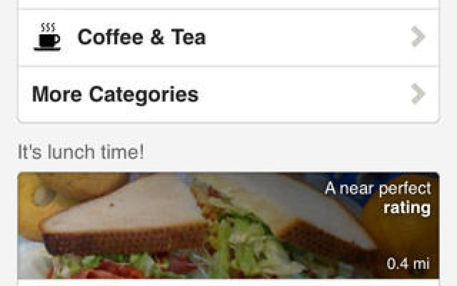 Yelp iOS app replaces Home tab w/ new toolbar for quick access to reviews, photos, and check-ins