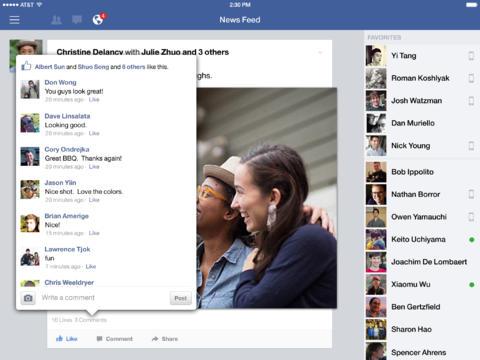 Facebook iOS app now lets iPad users edit posts