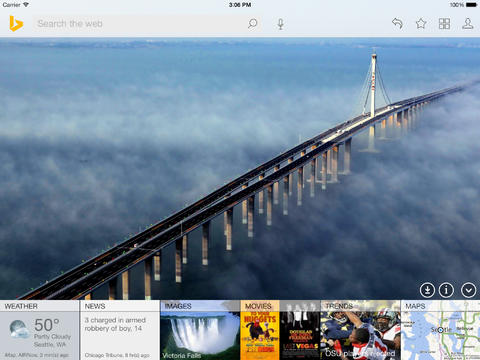 Microsoft updates Bing for iPad to version 2.0 with iOS 7 design, SkyDrive bookmarks, and more