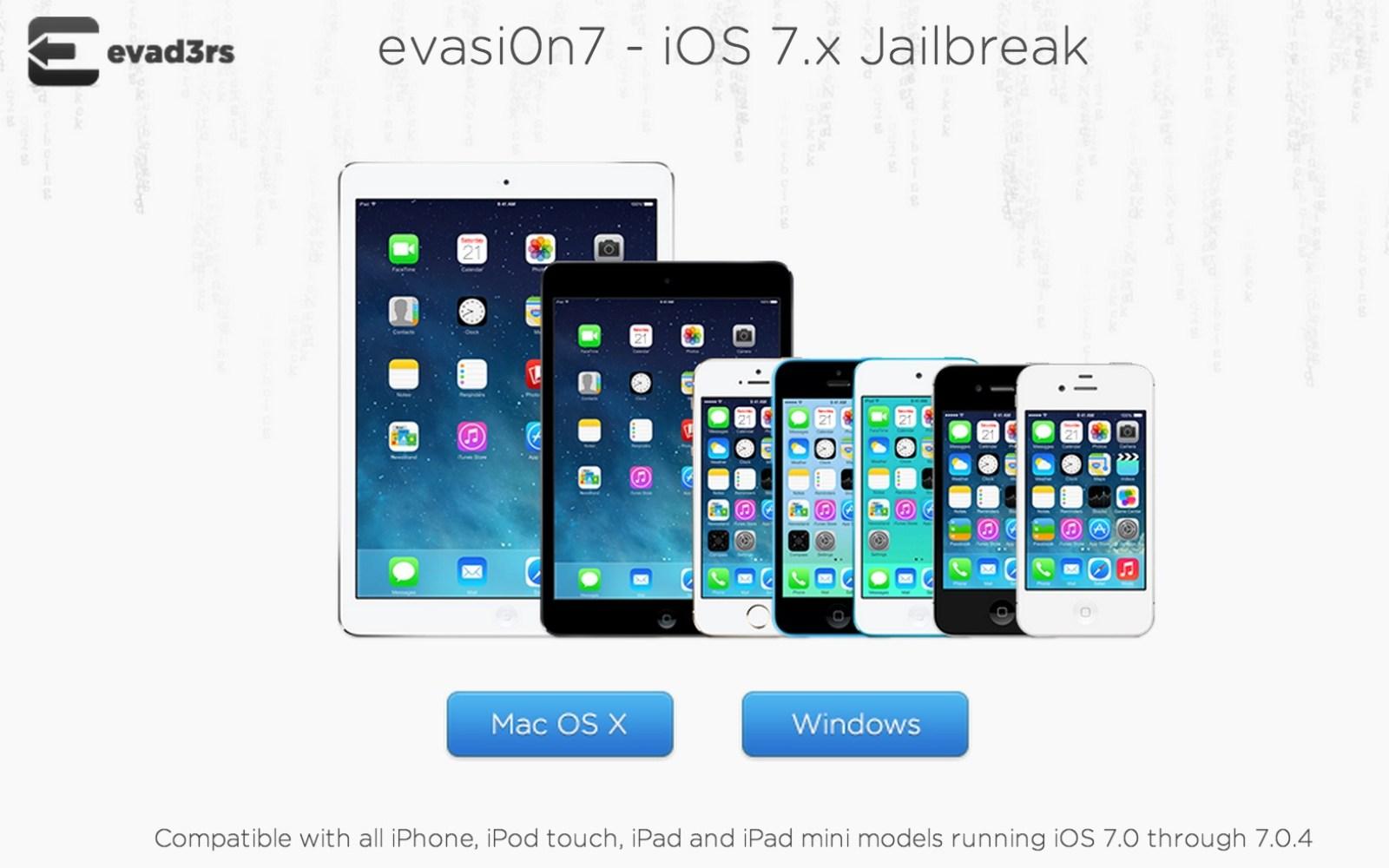 iOS 7 untethered Jailbreak released from Evasi0n