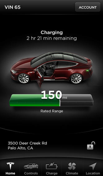 Tesla-app-iPhone