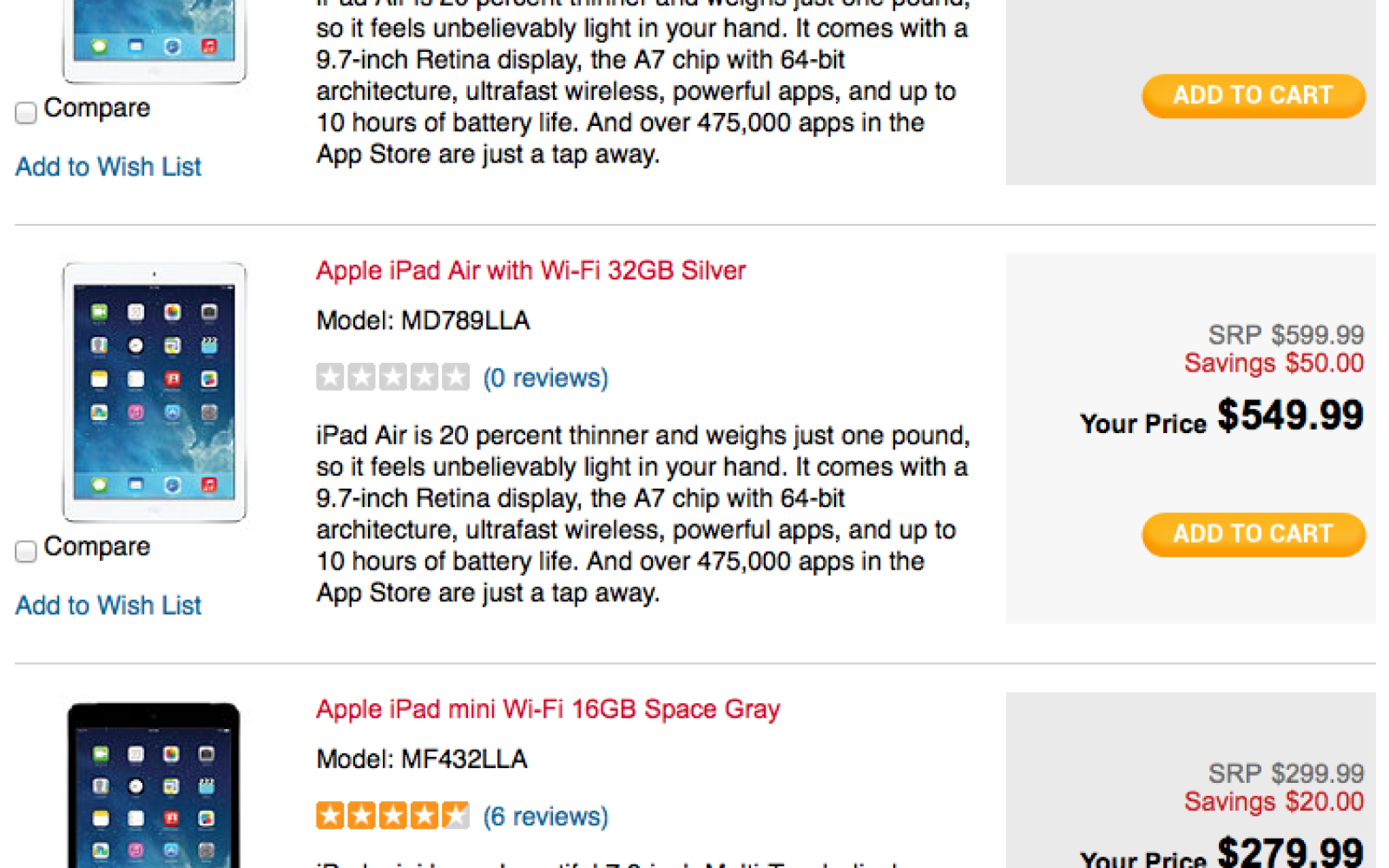 H.H. Gregg begins offering in-store pickup for Apple devices, celebrates by discounting iPad Air up to $60