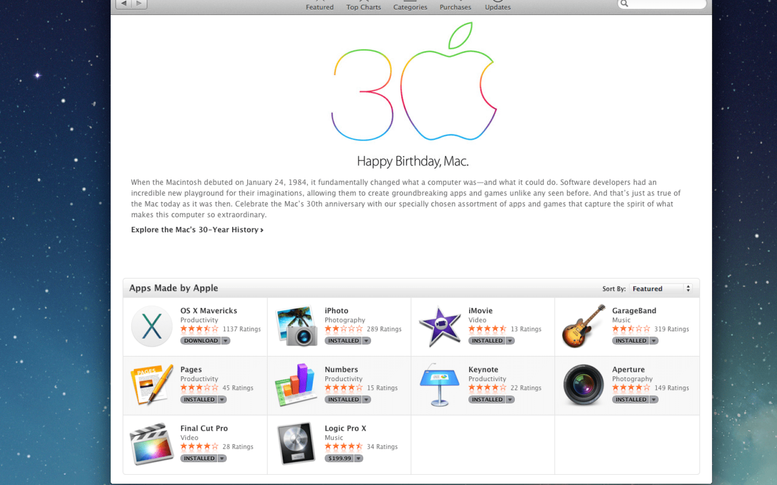 Apple says 'Happy Birthday, Mac' with special Mac App Store section